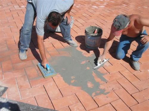 Posa in opera e trattamento pavimento cotto roma for Sannini impruneta