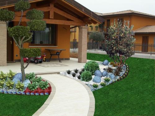Progettazione giardini bagnolo mella for Foto giardini moderni