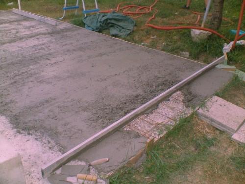 Basamento in cemento 5mx5m : (San Canzian d'Isonzo)