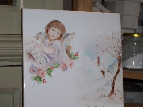 Christmas ideas tiles decoupage tiles decorazioni di natale