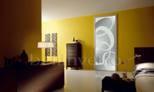porte laccate con vetri sabbiati decorati - 387 : (corleone) - Vetri Sabbiati Per Porte