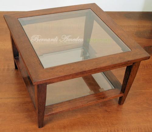 Tavolino da salotto doppio ripiano ros - Divano quadrato ...
