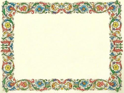 decorazioni pergamene da