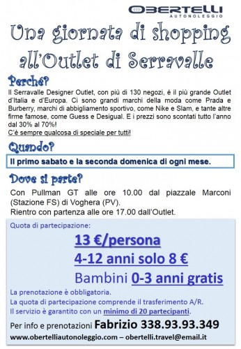 Shopping all\'Outlet di Serravalle Scrivia : (Voghera)