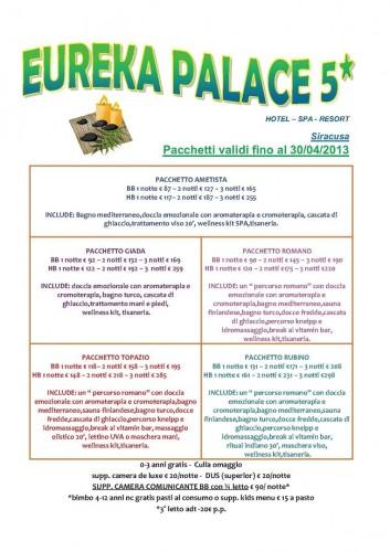 Eureka Palace Pacchetti Benessere Spa A Siracusa Sicilia