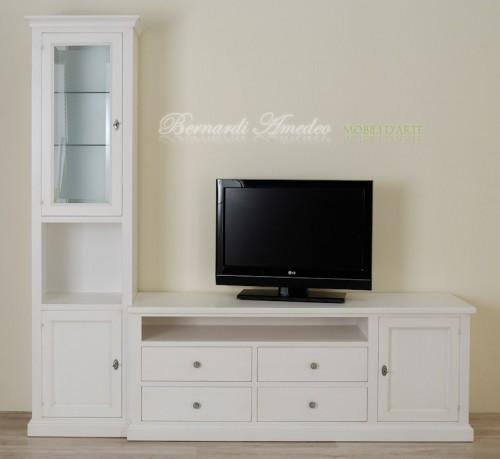 Porta Tv laccato bianco avorio : (Rosà)