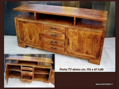 P 023 mobile porta tv etnico pessano con bornago for Mobili x salone