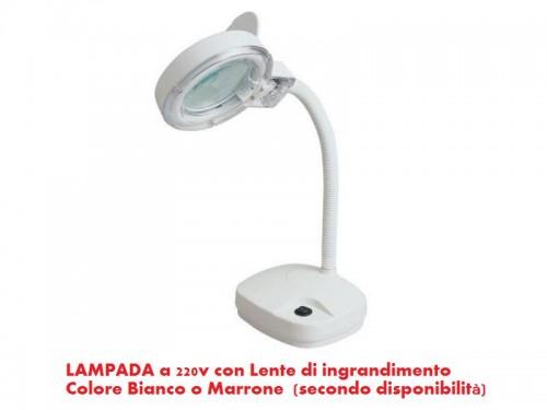 Lampada con lente di ingrandimento fattore 3x 220v latina - Specchio con lente di ingrandimento ...