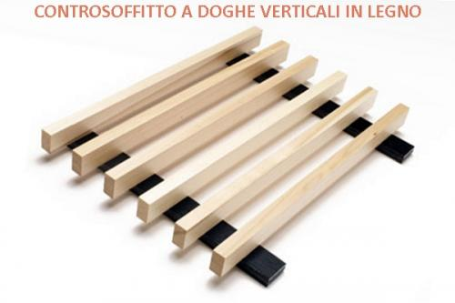 Controsoffitto a doghe verticali in legno listelli di for Controsoffitto in legno