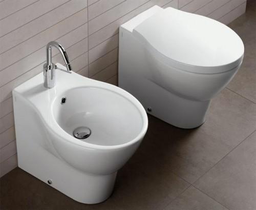 Sanitari per bagno water bidet e coprivaso nido di hatria for Sanitari per bagno in offerta