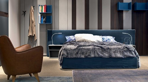 Gruppo letto stripes boiserie maron di brugnera for Tinteggiature per camere da letto