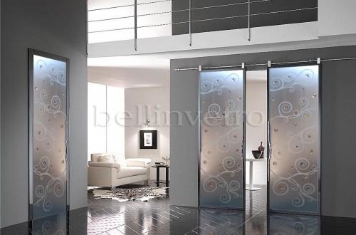 Porte in vetro scorrevoli filo muro : (Corleone)