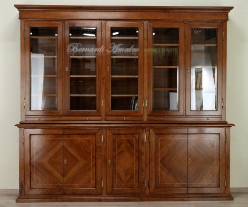Libreria con ante chiuse e vetro ros - Mobile libreria con ante ...