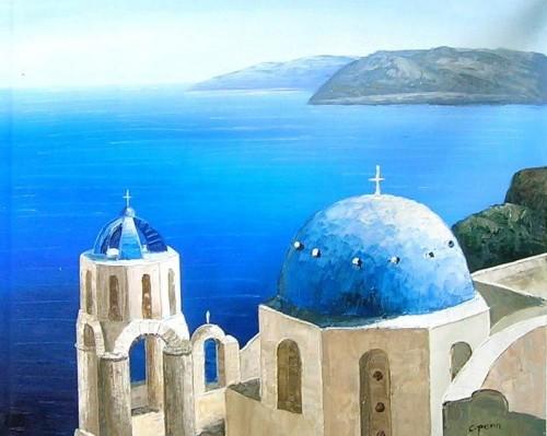 Dipinti ad olio marine roma for Disegni paesaggi semplici