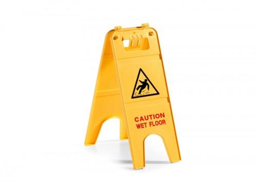 Segnale in plastica di avviso pavimento bagnato a due ante in italiano filmop ponte di - Segnale pavimento bagnato ...