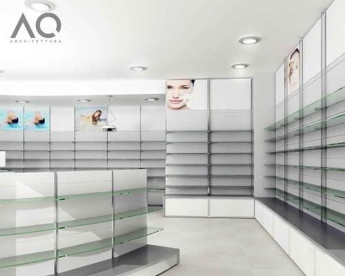 Architettura degli interni arredamento farmacia roma for Arredamento architettura interni