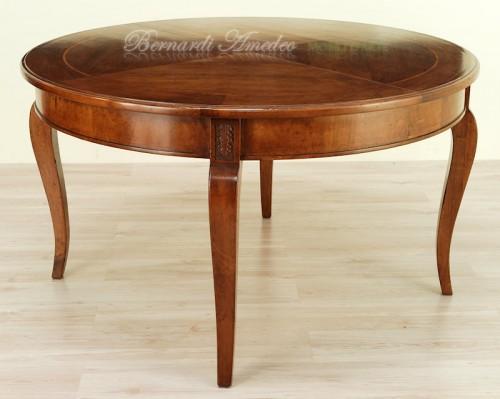 Tavolo rotondo allungabile diametro 140 cm ros for Tavolo legno noce nazionale