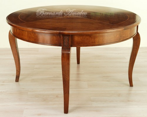tavolo rotondo allungabile diametro 140 cm : (rosà) - Tavolo Rotondo Arte Povera