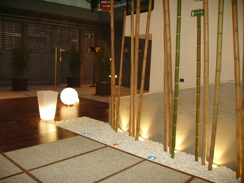 Zanino temaluce allestimento luci da esterno roma for Canne di bambu per arredamento