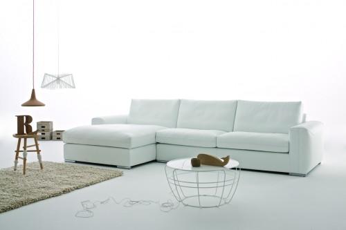 Nuovo divano in pelle charles in vendita da tino mariani - Divano bianco in pelle ...