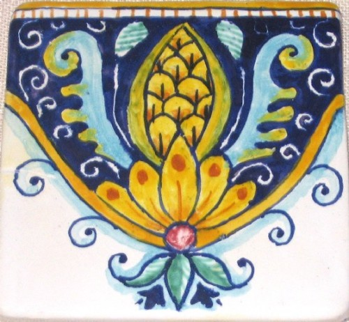 Piastrelle decorate , mattonelle decorate, pannelli decorativi dipinti ...