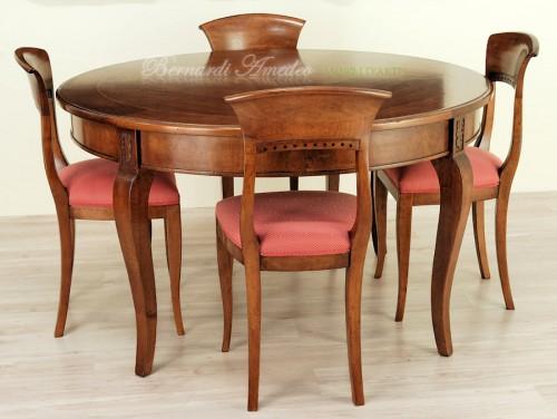 Tavolo rotondo allungabile diametro 140 cm ros for Tavoli classici allungabili