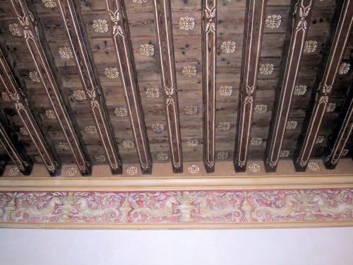 Decorazioni travi susegana - Soffitti decorati ...