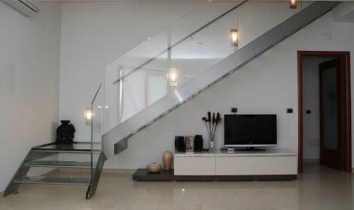 Scala con gradini in vetro e acciaio inox este - Scale con vetro ...