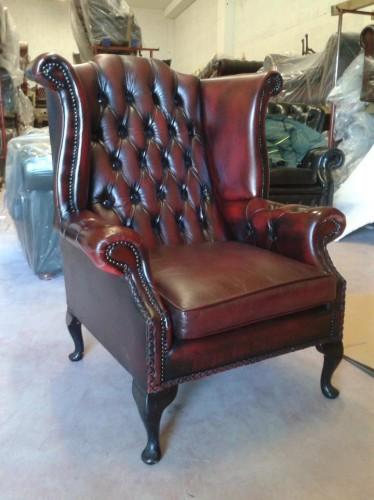 divani chesterfield usati vintage in pelle riano