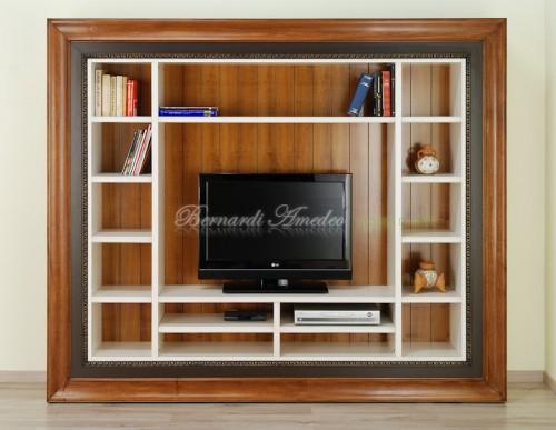 Pareti Attrezzate Con Cornice.Libreria Porta Tv Con Cornice Ros