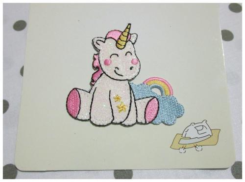 Applicazione termoadesiva Unicorno