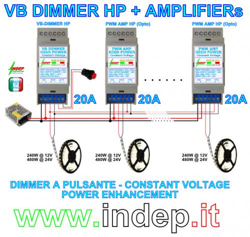Schema Elettrico Dimmer Per Led : Dimmer a pulsante elevata potenza ampere roncade
