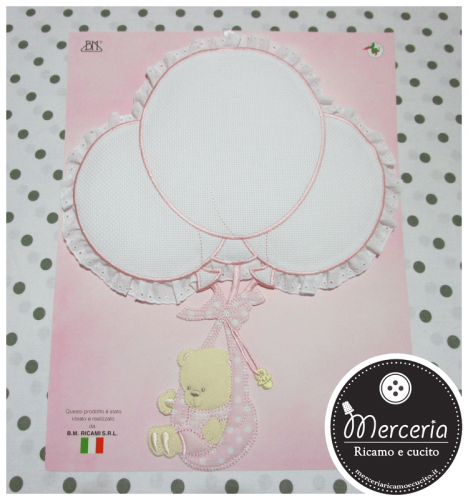 Fiocco nascita palloncini rosa per bambina
