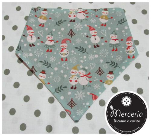 Bavetta bandana con pupazzi di Natale