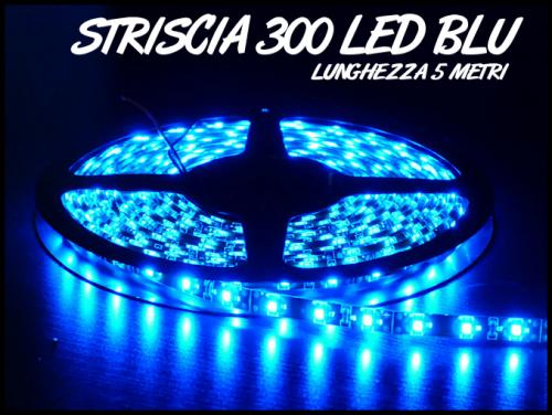 Striscia a led smd 300 led 5 metri blu acquario tuning - Strisce led per bordo piscina ...