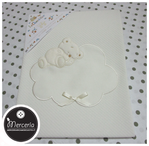 Copertina per neonato con orsetto e nuvola