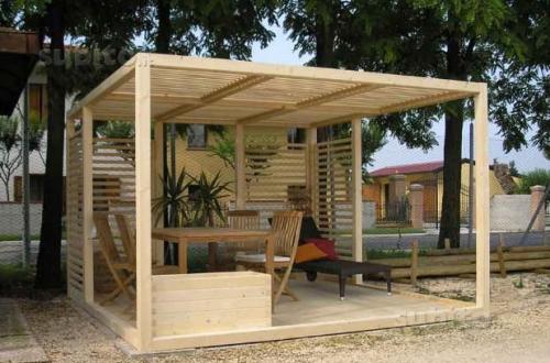 pergola legno 3x3 con fioriera lamezia terme. Black Bedroom Furniture Sets. Home Design Ideas