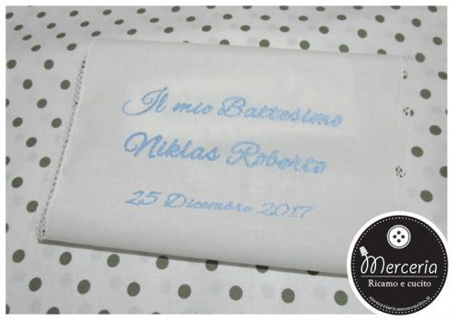 Asciugamano battesimo in cotone per Niklas