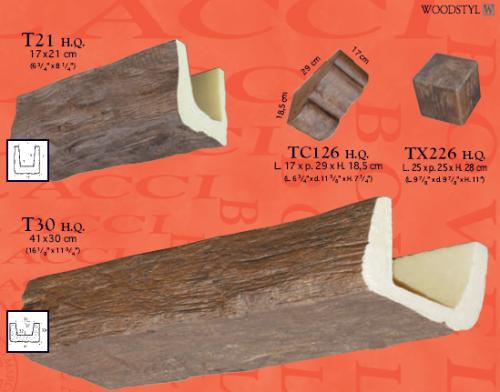 Travi finto legno rustiche genova for Copri travi finto legno
