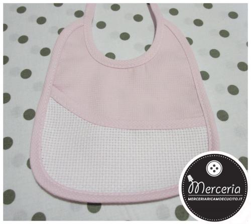 Bavetta prima misura in cotone rosa