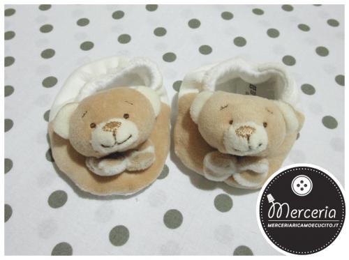 Babbucce panna con orsetti