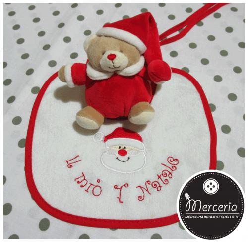 Scatolina regalo - Orsetto e bavetta primo Natale