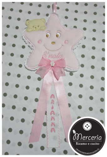 "Fiocco nascita stellina rosa per ""Arianna"""