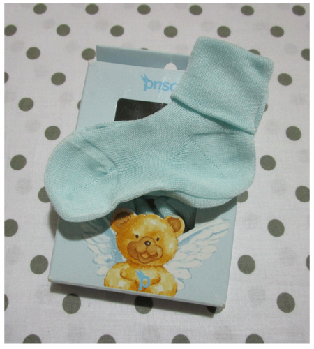 Calzini verdino per neonato in cotone Prisco