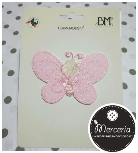 Applicazione-termoadesiva-farfalla-rosa-pois