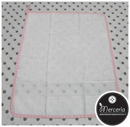 Salvietta asciugamano in spugna rosa