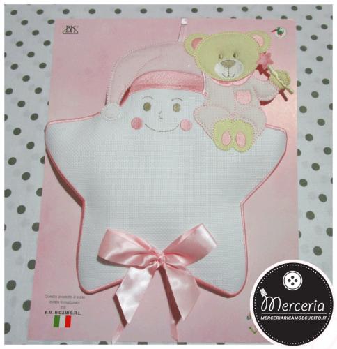 Fiocco-nascita-stella-rosa-con-cappello-e-orsetto-per-bambina