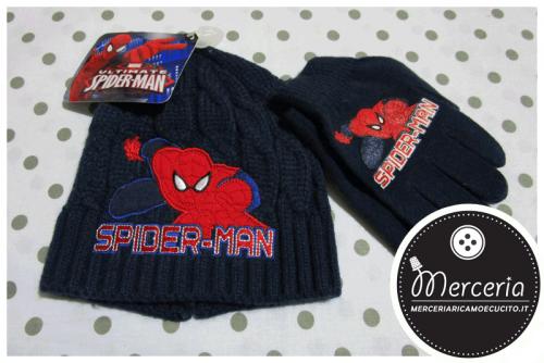 Cappello e guanti Spiderman