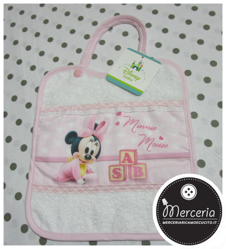 Bavaglino rosa Minnie Mouse