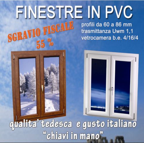 Finestre pvc made germany originali lamezia terme for Finestre pvc on line